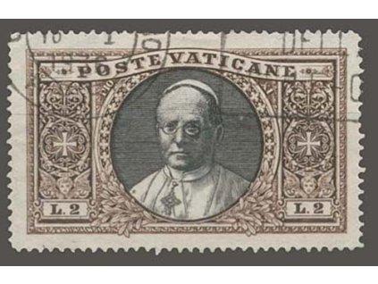 1933, 2L Papež, MiNr.32, razítkované