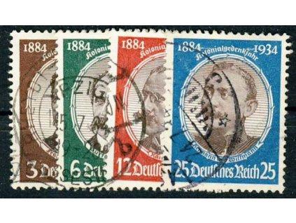 1934, 3-25Pf série, MiNr.540-43, razítkované