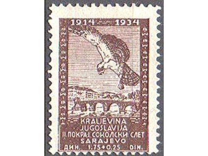 1934, 1.75Din Sokol, MiNr.274, **