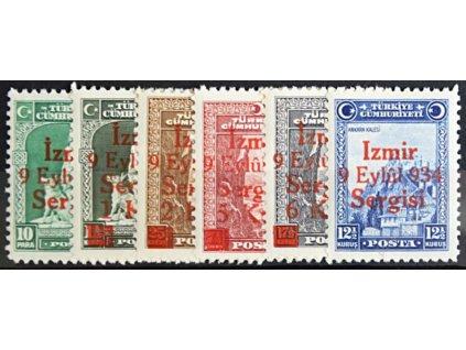 1934, 10Pa-12 1/2K série Izmir 934, **