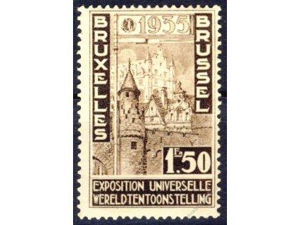 1934, 1.50Fr Brussel, MiNr.380, * po nálepce