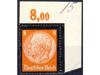 1934, 8Pf Hindenburg, roh. kus, MiNr.551, **