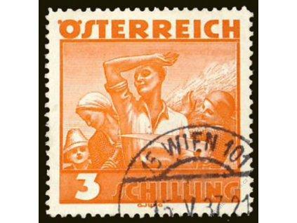 1934, 3S Pracující, MiNr.586, razítkované