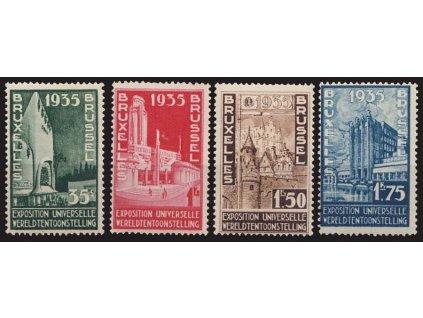 1934, 35C-1.75Fr Výstavní série, MiNr.378-81, ** , 35C dvl