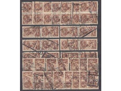 1934, 2´6 Sh´P Jiří V., studijní sestava 40 ks známek, razítkované