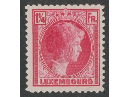 1934, 1 1/4 Fr Charlotte, MiNr.257, * po nálepce