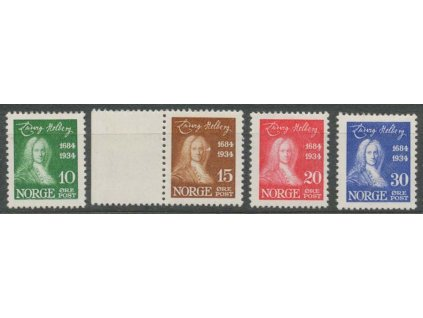 1934, 10-30Q série, MiNr.168-71, **