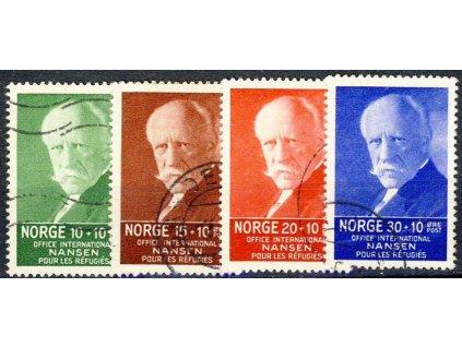 1935, 10-30Q série Nansen, MiNr.172-75, razítkované