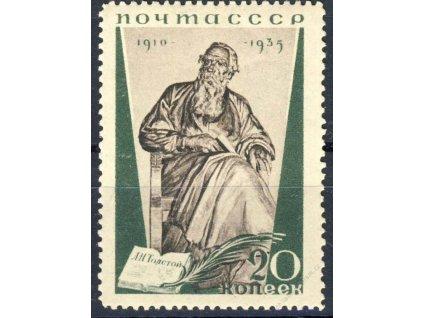 1935, 20K Tolstoj, MiNr.538A, **