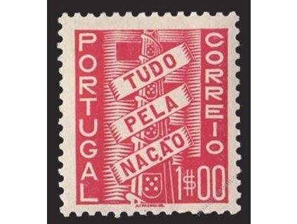 1935, 1E karmínová, MiNr.588, * po nálepce