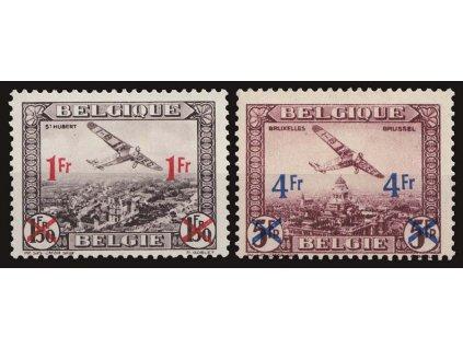 1935, 1Fr/1.50Fr-4Fr/5Fr letecká série, MiNr.399-400, **/*