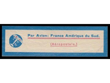 Letecká nálepka France Amérique du Sud, ** , obvyklá jakost