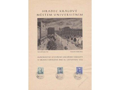 1945, Hradec Králové, Otevření lékařské fakulty UK, A4