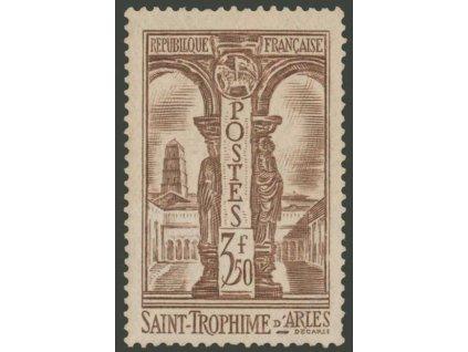 1935, 3.50Fr Budova, MiNr.298, ** , kz, drobný vlom - běžné