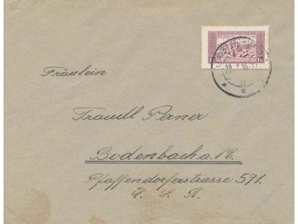 1935, DR Jablůnkov, firemní dopis vyfr. zn. 1KDM z aršíku