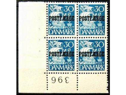 1936, 30Q s přetiskem POSTFAERGE,  **