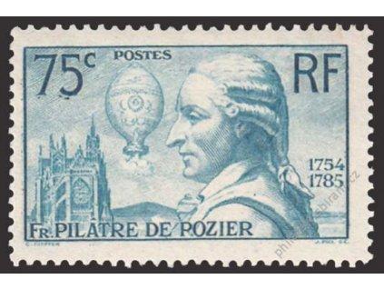 1936, 75C Rozier, MiNr.318, * po nálepce