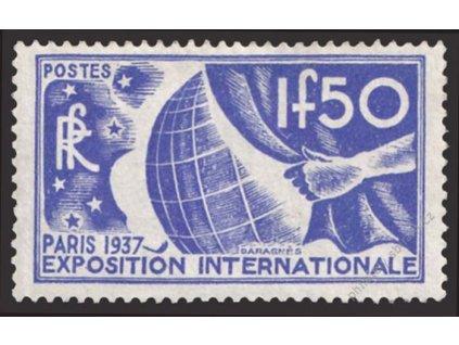1936, 1.50Fr Výstavní, MiNr.333, reparovaná * , dv