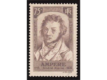 1936, 75C Ampére, MiNr.313, **