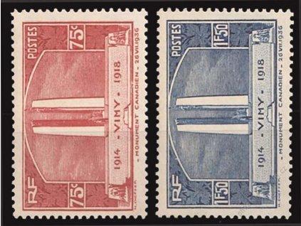 1936, 75C-1.50Fr série Pomník, * po nálepce