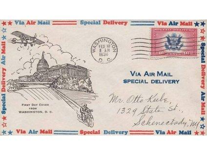 USA, 1936, FDC, zasláno v USA