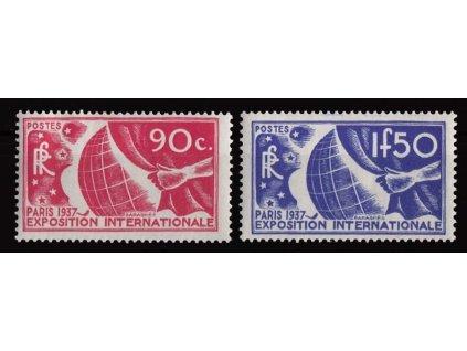 1936, 90C a 1.50Fr Světová výstava, MiNr.332,333, **