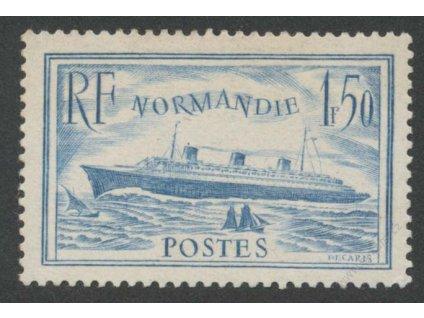 1936, 1.50Fr Normandie, MiNr.316, * po nálepce