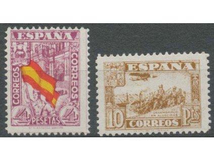 1936, 4 a 10Pta koncovky série, **