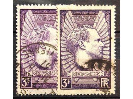 1937, 3Fr Mermoz, 2 kusy - odstíny barev,