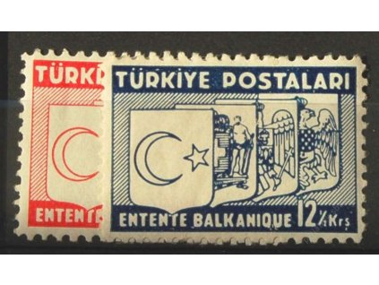 1937, 8 - 12 1/2K série Balkánská konference, **