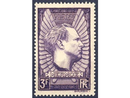 1937, 3Fr Mermoz, MiNr.344, ** , dv