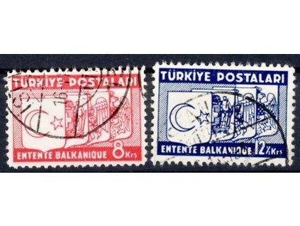 1937, 8-12 1/2K série, MiNr.1014-15, razítkované