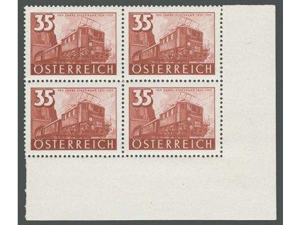 1937, 35g Lokomotiva, roh. 4blok, ** , dv růžek