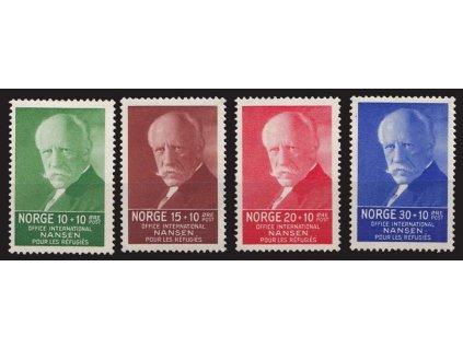 1935, 10-30Q série Nansen, MiNr.172-75, **