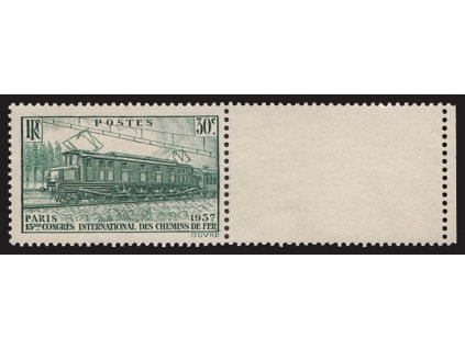 1937, 30C Železniční kongres s kuponem, MiNr.345, **