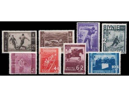 1937, 25B-10L série Sport, MiNr.528-35, * po nálepce, dv