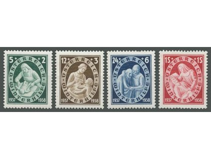 1937, 5g-1S série Winterhilfe, MiNr.642-45, **
