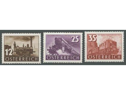 1937, 12-35g série Železnice, MiNr.646-48, **