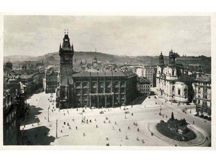 1938, Praha, X. Slet Všesokolský, pohlednice