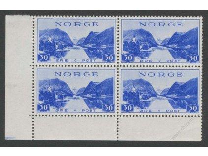1938, 30Q Sunn-Fjord, roh. 4blok, MiNr.197, ** , lom v okraji