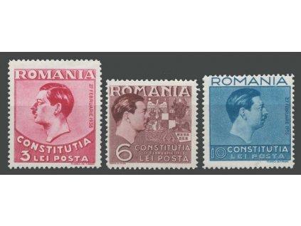 1938, 3-10L série Král Karel, MiNr.549-51, **