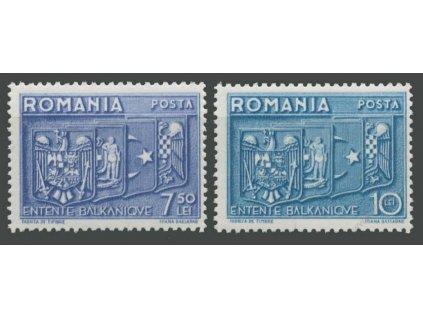 1938, 7.50-10L série, MiNr.547-48, **