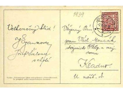 1939, pohlednice vyfr. zn. 30h Znak,