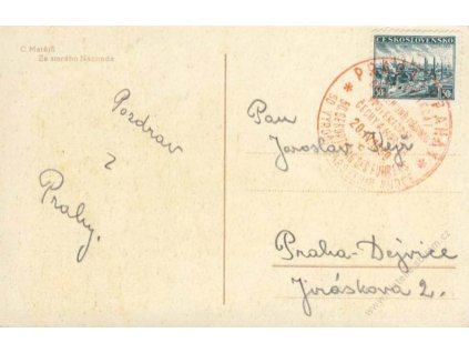 1939, Praha, Narozeniny vůdce, pohlednice