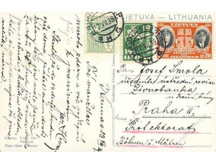 Lietuva, 1939, DR Kaunas, pohlednice