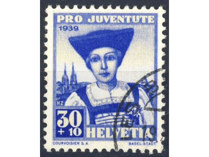 1939, 30C Pro Juventute, MiNr.362, razítkované