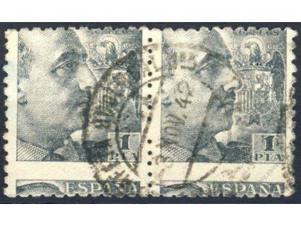1939, 1PTA Generál Franco, 2páska, posun, razítko