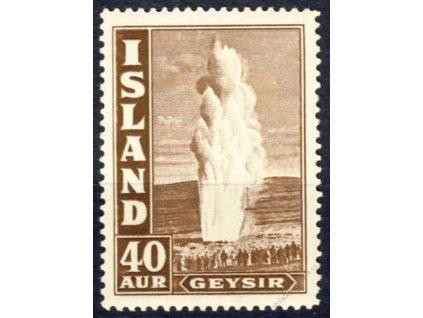 1939, 40A Gejzír, MiNr.213A, * po nálepce