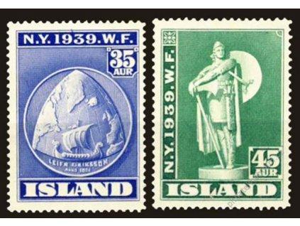 1939, 35 a 45A Výstava New York, MiNr.205,206, **