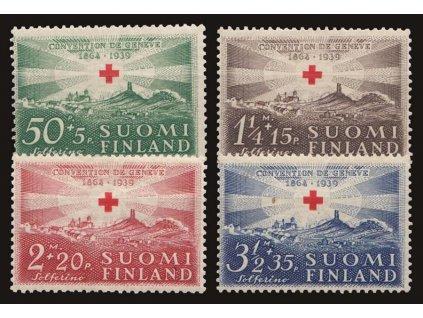 1939, 50P-3 1/2M série Červený kříž, MiNr.217-20, **/*